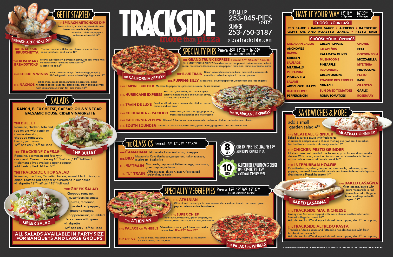 Trackside Menu